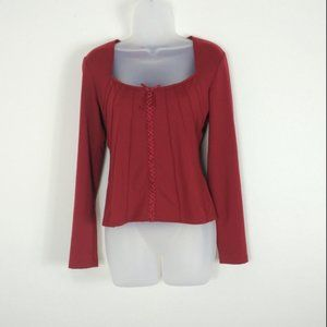 4/$30 Red New York & Co. Square Neckline Blouse